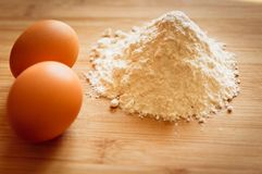 Eggs and flour royalty free stock image