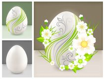 Eggs with flowers Stock Photos