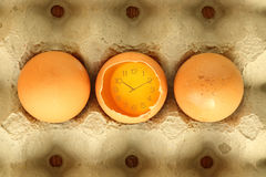 Eggs food time. Idea concept Royalty Free Stock Images