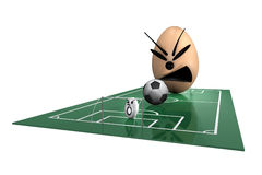 Eggs Football No.3 Stock Images