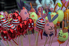 Eggs forms decorated ornamental for Easter stock photography