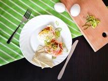 Eggs fri para el desayuno Imagenes de archivo