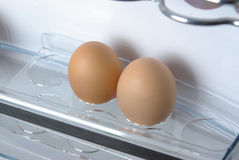 Eggs in the fridge Stock Photography