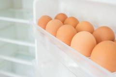 Eggs in a fridge door, Shortage. Royalty Free Stock Photo