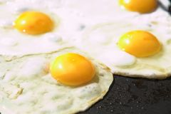 Eggs on a frying pan Royalty Free Stock Photos