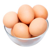 Eggs in glass bowl Royalty Free Stock Photo
