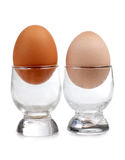 Eggs in glasses Stock Photos