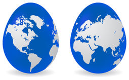 Eggs with global map pattern Royalty Free Stock Photography