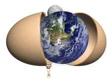 Eggs globe Royalty Free Stock Photo