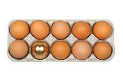 Eggs, golden egg Royalty Free Stock Images