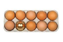 Eggs, golden egg Royalty Free Stock Images