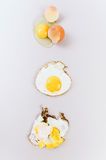 Eggs on gray background Royalty Free Stock Photo