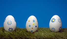 Eggs on green grass Royalty Free Stock Photography