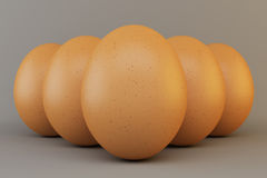 Eggs in group Royalty Free Stock Photos