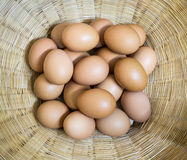 Eggs group in basket Royalty Free Stock Image