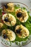 Eggs halfs mit Majonäse Lizenzfreies Stockbild