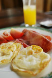 Eggs and ham Royalty Free Stock Images