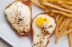 Eggs with ham as Christmas snack Royalty Free Stock Photo
