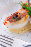 Eggs with ham Royalty Free Stock Image