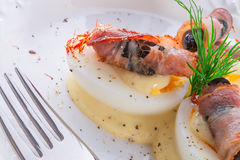Eggs with ham Royalty Free Stock Photography