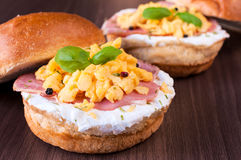 Eggs and ham Royalty Free Stock Photography