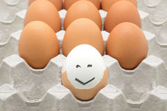 Eggs with happy face Royalty Free Stock Photography
