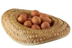 Eggs in a hat Stock Photography