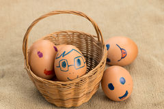Eggs have Expression Royalty Free Stock Image