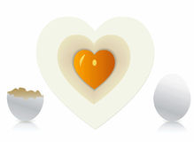 Eggs in heart shape Stock Photography