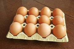 Eggs of hen Stock Photography