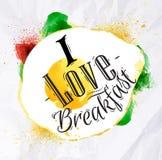 Eggs I love breakfast Stock Photography