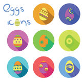 eggs icons Royalty Free Stock Images