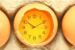 Eggs il tempo dell'alimento Immagini Stock Libere da Diritti