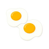 Eggs illustration. Fried eggs illustration; Sunny side up eggs Royalty Free Stock Photography