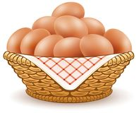 Free Eggs In Basket Isolated On White Royalty Free Stock Photography - 101921537