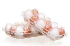 Eggs In Box Stock Photos
