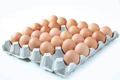 Eggs inside tray Royalty Free Stock Photography