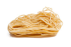Eggs and instant noodles Stock Images
