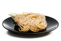 Eggs and instant noodles Stock Photo