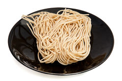 Eggs and instant noodles Stock Photos