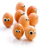 Eggs invasion Royalty Free Stock Photo