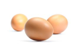 Eggs isolated Royalty Free Stock Image