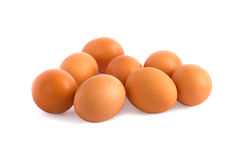 Eggs isolated Stock Images
