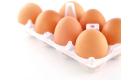 Eggs on isolated Royalty Free Stock Image
