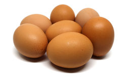 Eggs isolated Royalty Free Stock Photography