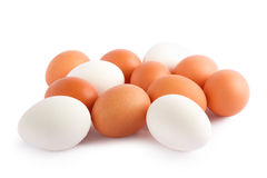 Eggs isolated on white background Stock Photos