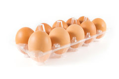 Eggs. Isolated on white background Royalty Free Stock Photos