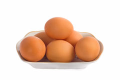 Eggs isolated on white background close up Royalty Free Stock Photo