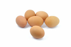 Eggs isolated on white background. Fresh eggs isolated on white background Stock Photo