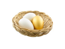 Eggs Isolated on White Background Royalty Free Stock Photography